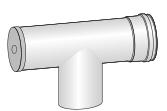 Revizní T kus pro kondenzační kotle
