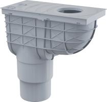 Lapač střešních splavenin univerzální Alcaplast 300X155/110 přímý šedý AGV1S
