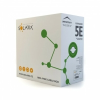 Datový kabel Solarix CAT5E UTP PVC SXKD-5E-UTP-PVC box 305m