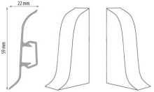 Cezar DUO koncovka levá+pravá, PVC, 59mm, pekanový ořech, dekor 102