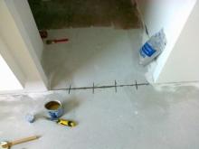 Šití podlah, cena práce za bm