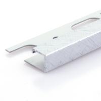 Čtvercový ukončovací profil Profilpas eloxovaný hliník platina kartáčovaný 10mm 2,7m