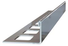 Ukončovací L lišta nerez vysoký lesk 15mm 2,5m