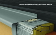 Montáž podparapetního profilu s výztužnou tkaninou, cena práce za bm bez materiálu