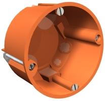 Elektroinstalační krabice do sádrokartonu oranžová