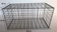 Gabionový koš 100x50x40, velikost oka 5x10cm, Ø drátu 4mm