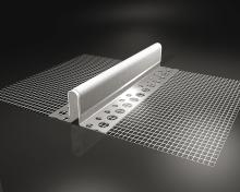 Dilatační hliníkový profil s pryžovou dilatační páskou typu E 2m