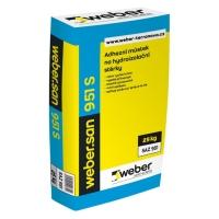 Suchá omítková směs k vytvoření adhezního můstku na hydroizolace Webersan 951 S 25kg
