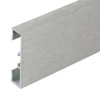 Podlahová soklová lišta Profilpas hliník kartáčovaný titan 40 mm 2 m