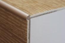 Schodová hrana  pro vinylové podlahy do 3mm Profil Team 38x25mm 2,7m champagne