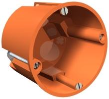 Elektroinstalační krabice HV do sádrokartonu oranžová 68x62mm