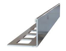 Ukončovací L lišta nerez vysoký lesk 12,5mm 2,5m