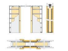 Pouzdro pro posuvné dveře do SDK 100mm Eclisse dvoukřídlé
