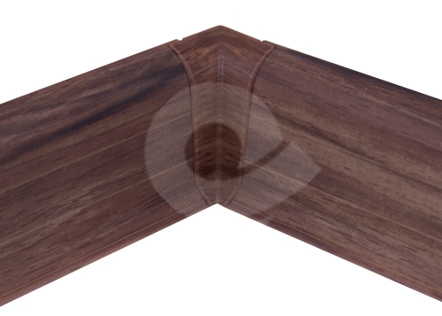 Cezar PREMIUM vnitřní roh, PVC, 59mm, ořech corley, dekor 202