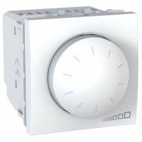 Otočný stmívač Unica, 2 moduly, 40-400 W/VA bílý