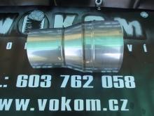 Komínový přechodový díl menší - větší tažený pr. 130mm