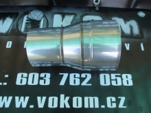 Komínový přechodový díl menší - větší tažený pr. 80mm