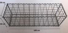 Gabionový koš 100x30x30, velikost oka 5x10cm, Ø drátu 4mm