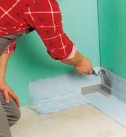 Montáž hydroizolační pásky vnějšího rohu , cena práce za kus  (cena za práce bez materiálu)