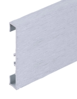 Podlahová soklová lišta Profilpas hliník kartáčovaný platina 60 mm 2 m