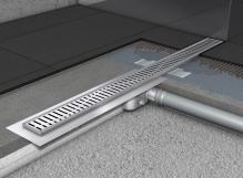 Připojení a osazení odtokového žlabu do 800mm, cena práce za ks c (cena za práce bez materiálu )