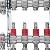 """Rozdělovač pro podlahové topení Kermi x-net 5/4"""" pro 3 okruhy, stavební délka 260mm"""