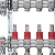 """Rozdělovač pro podlahové topení Kermi x-net 5/4"""" pro 9 okruhů, stavební délka 590mm"""