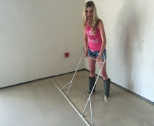 Lití anhydritové podlahy, cena práce za 1 m2  bez materiálu