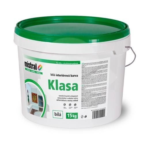 Mistral Klasa - vysoce bílá disperzní barva pro interiéry 15 kg