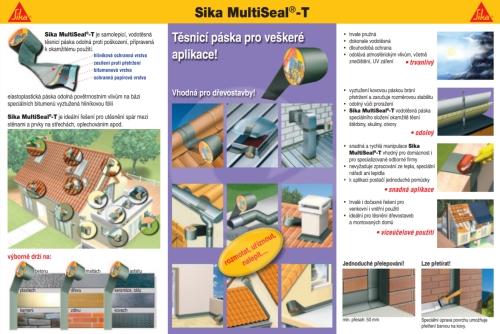 Bitumenová samolepící těsnící páska terra s hliníkovou fólií šíře Sika Multiseal-T