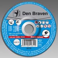 Den Braven brusný kotouč kov/inox A24R-125x6.0x22.23-T27