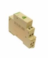 Tlačítko se zelenou kontrolkou na DIN lištu 230 V
