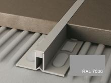 Dilatační lišta pro nízké tloušťky Profilpas Projoint NJ pvc šedý kámen RAL 7030 4,5mm 2,7m