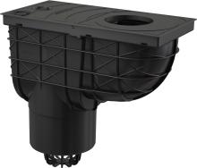 Lapač střešních splavenin spodní AGV2 černý 125 mm