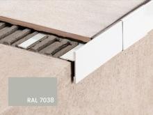 Balkonová T lišta bez okapničky Profilpas Protec CPEV hliník šedý popel RAL 7038 45x15x2,7m