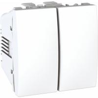Přepínač dvojitý střídavý Unica, řazení 6+6 bílý