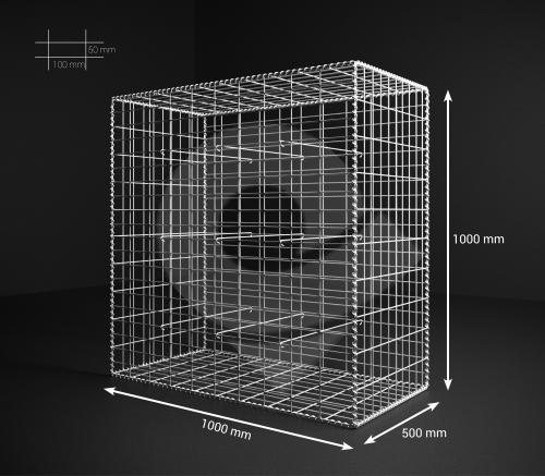 Gabionový koš 100x100x50, velikost oka 5x10cm