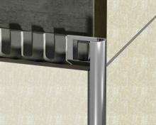 Ukončovací lišta obloučková nerez vysoký lesk 6mm 2,5m