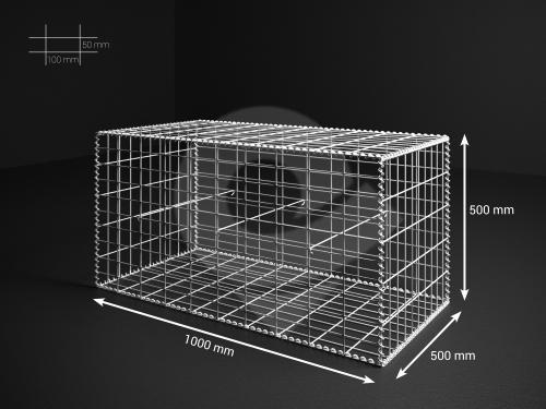 Gabionový koš 100x50x50, velikost oka 5x10cm