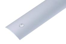 Přechodová lišta Cezar vrtaná 30mm 1m stříbrná