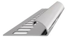 Ukončovací lišta obloučková nerez kartáčovaná 8mm 2,5m