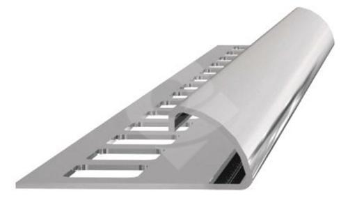 Ukončovací lišta obloučková nerez vysoký lesk 10mm 2,5m