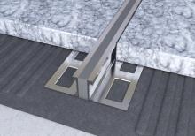 Dilatační lišta povrchová teplem vulkanizovaná Ligma hliník 18,5mm 2,5m