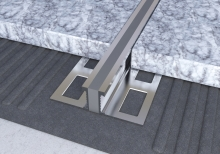 Dilatační lišta povrchová teplem vulkanizovaná Ligma hliník 20mm 2,5m