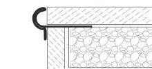 Dekorativní schodová lišta nerez kartáčovaná 13,5mm 2,5m