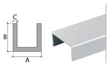 U profil Cezar eloxovaný hliník 20x10x2mm 2m