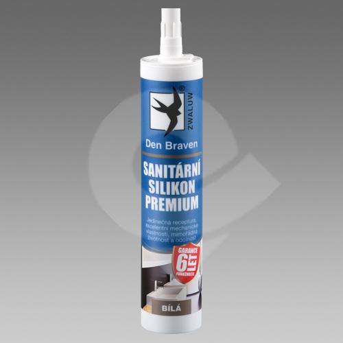 Sanitární silikon Premium Den Braven transparentní 310ml