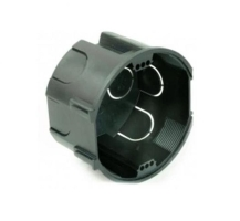 Kombinovaná rozbočná krabice pod omítku IES černá, rozteč šroubů 60mm