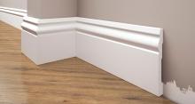 Cezar Elegance podlahová soklová lišta 94x12,2 mm 2,44 m bílá