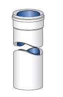 Koncentrický komínový systém plast/hliník